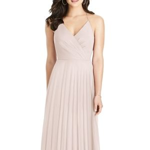 Blush Ruffle Back Chiffon Dress
